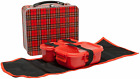 Heritage Plaid Metal Lunch Box Kit Tartan Children Adults Traditional Dinner Set
