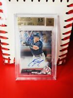 🔥Clint Frazier Yankees 2017 Bowman Chrome Prospect Auto BGS 9.5-Holiday Boxes🎁