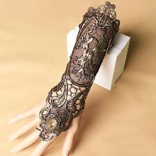 Vintage Lace Glitter Bracelet Bangle Slave Chain Finger Ring Punk Women 300mm
