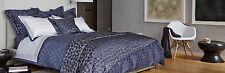 "Frette Bedding Lux Relief Silk Blend SMALL EURO 20' x 20"" Sham Blue $375 C624"