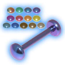 Titanium Tongue Stud Flat Disc Tongue Bar Grade 23 Barbell discs G23 8mm - 24mm