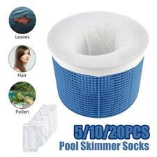 5/10/20 PACK Swimming Pool Spa Skimmer Basket Socks - Filter Saver Net