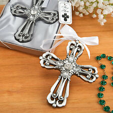 150 Silver Cross Ornament Wedding Favor Christening Baby Shower Party Event Lot