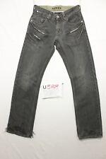 Levi's schlank straight -grau schwarz Jeans usato Cod.U389 Tg.43 W29 L32