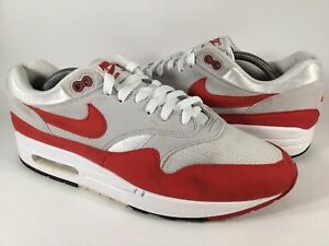 Nike Air Max 1 Anniversary OG Red White Grey Black Men Size 9.5 Rare 908375-103