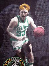 LARRY BIRD lrg T shirt vtg Boston Celtics dayglo beat-up Salem 1980s basketball