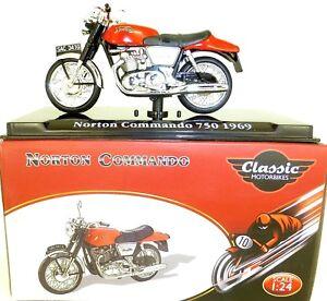 Norton Commando 750 1969 Motorcycle Classic Atlas 4658103 New 1:24 Boxed HR1 Μ