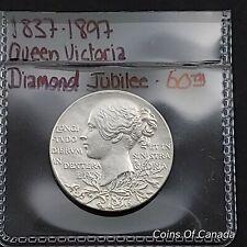 1897 Queen Victoria Silver Medal Diamond Jubilee 1837-1897 25mm #coinsofcanada