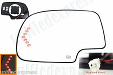PLUG & PLAY DESIGN~DRIVER SIDE MIRROR-GLASS+POWER+LED SIGNAL+HEATED+BACKING PAD