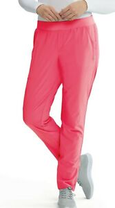 Barco One wellness #505 Elastic Drawcord Cargo Scrub Pant in Pink Ruby Size S