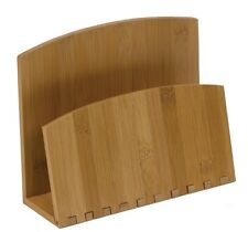 Recipe File and/or Napkin Holder, Bamboo, New, from Meadowsweet Kitchens