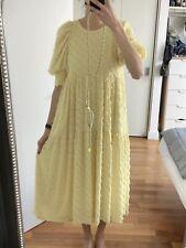 Vestido De Verano Amarillo suave Talla S Zara