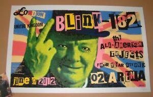 blink 182 Frank Kozik London England Poster Print Signed Numbered Art 2012
