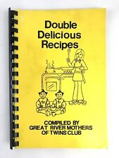 Vintage Double Delicious Recipes (Great River Mothers of Twins Club) 1980