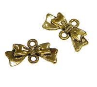 10 Metall Anhänger Verbinder Fliege Gold 20mm Metallperlen Schmuck Charm  F23