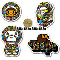 A Bathing Ape BAPE Baby Milo Animal Stickers Set Trunk Notebook Car Skateboard