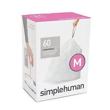 simplehuman Bin Bag Liners (45 litres) Code M 60pcs (3 Packs x 20)
