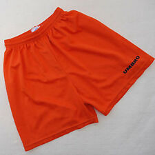 "NEW 30"" S MENS VTG Shiny Orange Umbro Shorts Soccer Football Gym LOGO Stripe"