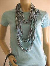 Räumungsverkauf! Halskette UNIKAT blau türkis Filz 3 Meter lang Kette Lagenlook