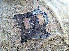 Hand Tooled/Carved Custom Leather Pickguard Gibson SG Standard Catacomb Skulls