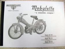 Mobylette/Moped/AV75/AV77/AV78/In French/ Parts Book With Exploded Diagrams