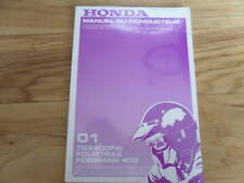 2001 Honda TRX400 Owners Manual TRX 400 FW -- FRENCH
