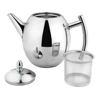 1/1.5L Stainless Steel Teapot With Infuser Filter Tea Leaf Coffee Pot Kettle