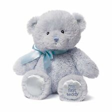 GUND My First Teddy Baby Stuffed Animal, Blue, 10 inches