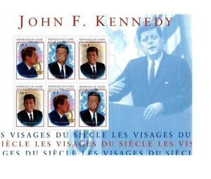 Guinea - John F Kennedy - Sheet of 6 Stamps - MNH