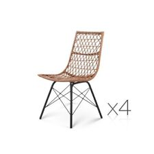 Outdoor Rattan Dining Chair - Set of 4