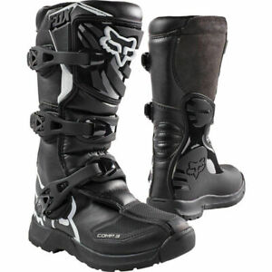 2021 Fox Racing Youth Size Black COMP 3Y Off-Road / ATV Riding Boots