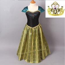 Girl Frozen Dress Princess Anna Costume Party Birthday Dress size: 1-10 years