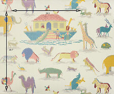 Vintage Wallpaper Nursery Noah's Arc Animals Pastel by  Paloma Picasso
