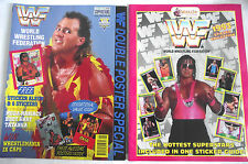 WWF DOUBLE POSTER SPECIAL WITH ORIGINAL FREE MERLIN STICKER ALBUM  & 6 STICKERS