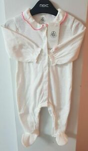 New Petit Bateau Girls Sleepsuit from 0-12 month available 100% cotton