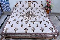 Ethnic Indian Cotton Bedspread Queen Size Sheet Set Bedding Bed Cover Duvet Boho