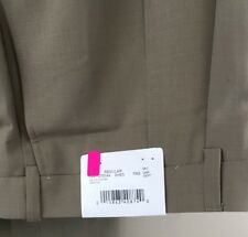 Size 54 R NEW HICKEY BY HICKEY FREEMAN DRESS PANTS WOOL BLEND BEIGE