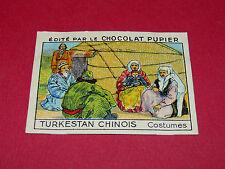 CHROMO TURKESTAN CHINOIS N°31 COSTUMES CHOCOLAT PUPIER ASIE 1936