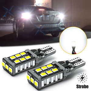 LED Backup Reverse Light Strobe Flash Bulbs 921 for Nissan Frontier Altima Titan