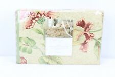 Charter Club Full Comforter Cover Set MARTINE 100% Cotton Sateen Floral NEW