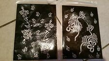 Lot of 4 Self sheets Adhesive Decal Stencils Henna temporary tattoo free ship