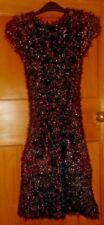Ladies JOE BROWNS Multi Coloured Sleeveless Floffy Textures Dress - Size S
