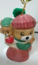 Lil Chimer Bisque Porcelain Jasco Bear Bell Christmas ornament mama baby