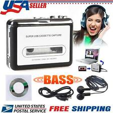 Portable USB Tape Cassette to MP3 PC Converter Capture Stereo Audio Music Player