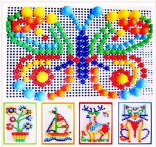 Kinder Puzzle Peg Board Mit 296 Pegs Für Kinder Lernspielzeug Geschenk NIU
