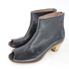 corvani Ladies Shoes Ankle Ankle Boots Size 37 Black Leather NP 189 NEW