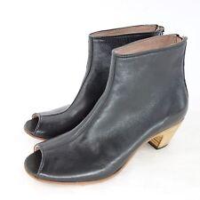 corvani bottines bottes à la Cheville Bottes 37 Noir Cuir Véritable NP 189 Neuf