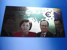 1000 EURO IN FARBE / 24 KARAT GOLD / GOLDFOLIENNOTE GOLDBARREN #5102