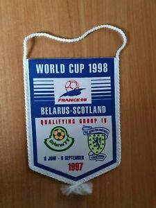 Football pennant Belarus vs Scotland 1997 FIFA WC 1998 France qualification game