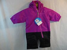 New Baby Infant Girl Columbia Little Dude Suit 3 - 6 M Purple Black Snow Suit